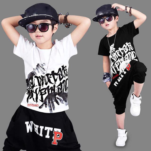 8f8796b85 Online Shop 2018 new fashion print Baby boys t-shirt hip hop dance ...