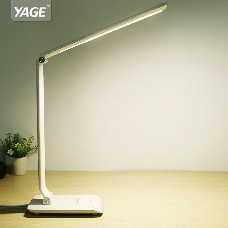 YAGE Led Desk Lamp Adjustable Table Lamp Led Table Lamp Desk Light Bed Lampe Table Reading Office Light Touch Swicth 90V-240V