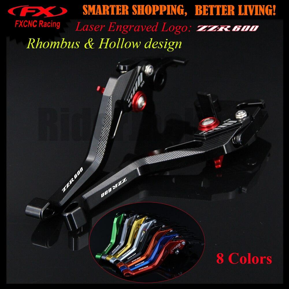 3D дизайн (ромб полые) черный мотоцикл регулируемые ручки тормоза и сцепления, обработанные на станке с ЧПУ для Kawasaki ZZR600 ZZR 600 2005 2009 2007 2008