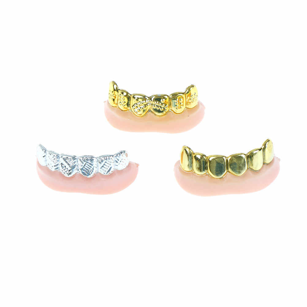 Decorazione di Halloween Oro Argento Denti Falsi di Massa Del Partito Bling Griglie Placcato Denti 1 Pc