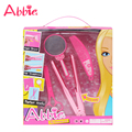 ABBIE Doll' Hair Straightener Toy Girls Beauty Salon Play Set Include Mirror And Styling Accessories Set Toy Girl's Gift