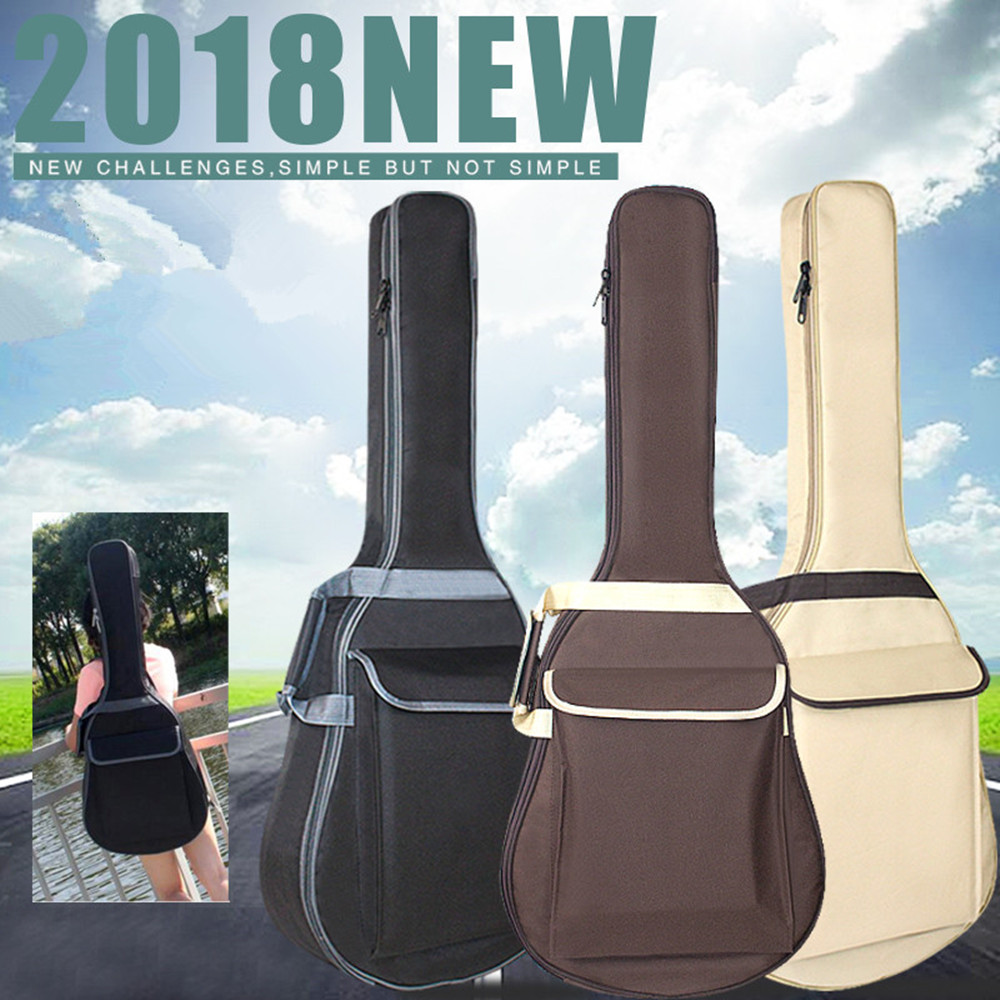 ZONAEL 38 39 40 41 Inch Waterproof Folk Acoustic Guitar Bag Pad Cotton Thickening Backpack Soft Case Guitar Gig Bag Accessories 40 41 soft acoustic guitar bass case bag cc apb bag acoustic guitar padded gig bag with double padded straps and backpack