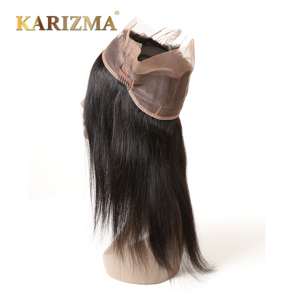 Karizma 360 Lace Frontal Straight Remy Hair Pre Plucked Natural Hairline With Baby Hair 100 Human