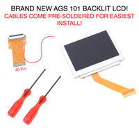 New Arrival For Gameboy Advance MOD LCD Backlight Kit 32 Pin Or 40 Pin For GBA