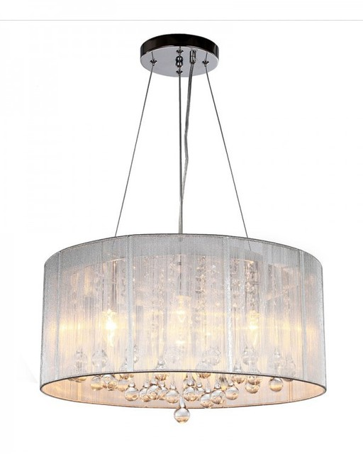 Drum Shade Pendant Lights Crystal Led Light For Bedroom Lampfair