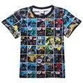 Camiseta de Manga corta Niños Superman Batman v Películas de Impresión Ropa de Los Muchachos Camisetas Para Los Muchachos Niños Del Bebé ropa Para Niños