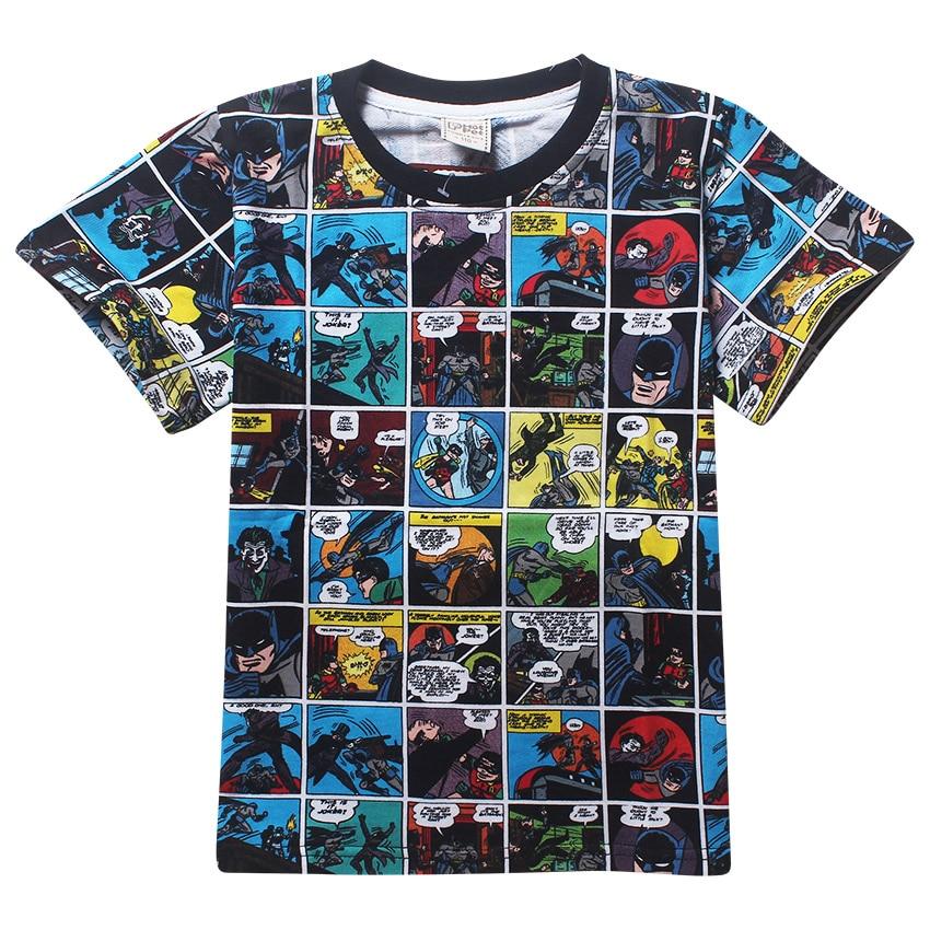 Short Sleeve T Shirt Children Batman V Superman Movies