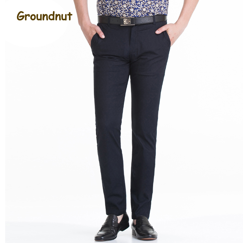 Groundnut Brand Suit Pants Mens Work Trousers Spring and Summer Business Casual Straight Classical Dress Pants Male Plus Size