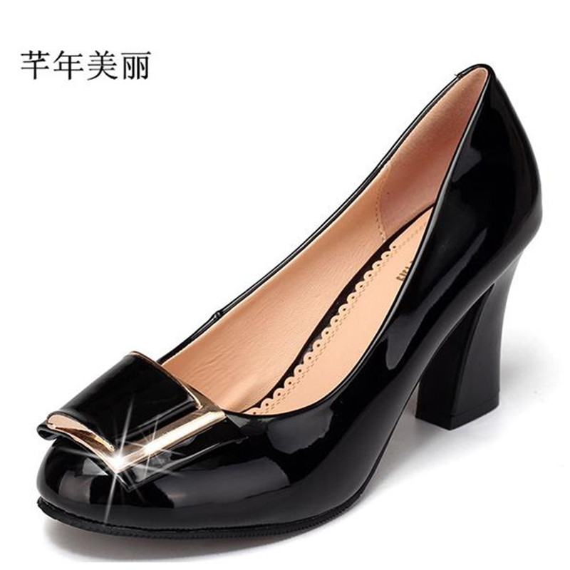 Autumn and winter new Women shoes Office&career Classics shoes high-heeled Large size 41-43 female shoes Heels pumps obuv 2017 new spring female flat heels martin shoes bullock shoes female thick bottom loafers large size women shoes obuv ayakkab