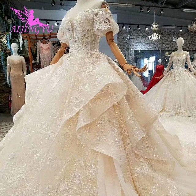 AIJINGYU concepteur de mariage A robes Unique abordable Royal Aliexpress Sexy 2021 2020 robe taille 18 nouveau Style robe de mariée