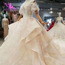 AIJINGYU düğün tasarımcısı bir önlük benzersiz ekonomik kraliyet Aliexpress seksi 2021 2020 elbisesi boyutu 18 yeni stil düğün elbisesi