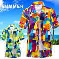 Brand new camisas Beach Shirt Men Hawaii shirt beach leisure fashion floral shirt tropical seaside hawaiian shirt Asian Size 5XL