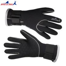 Неопреновые перчатки для дайвинга 3 мм, высококачественные перчатки для плавания, сохраняют тепло, оборудование для плавания и ныряния Brand ...