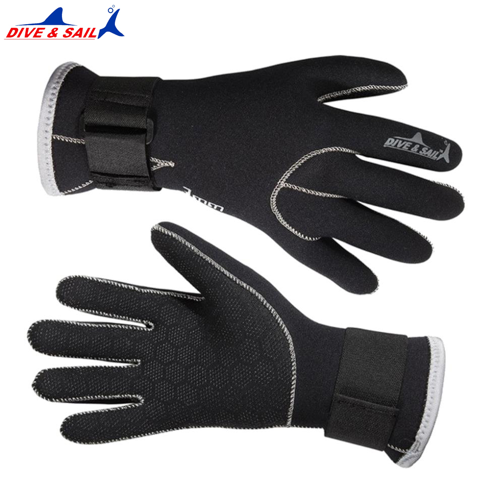Dive sail 3mm Neoprene Diving Gloves Dive&sail High Quality Gloves for Swimming Keep Warm Swimming Diving Equipment Brand new цена