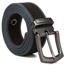 2017 Men Weave Canvas belt mens workout waist Casual Jeans Brand Belt Young student needle Buckle-Belt Male Tactical