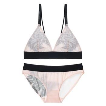 TERMEZY Women sexy Underwear ultra-thin Wireless Lingerie set Fashion Sexy bra set push up bra brief sets lingerie female set 5