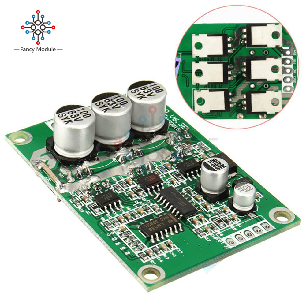 15w 20w Dc Brushless Micro Motor Vibration With Speed Controller 12v Miniature Driver Modules 24v 36v 500w Balanced Car Board Voltage Regulation