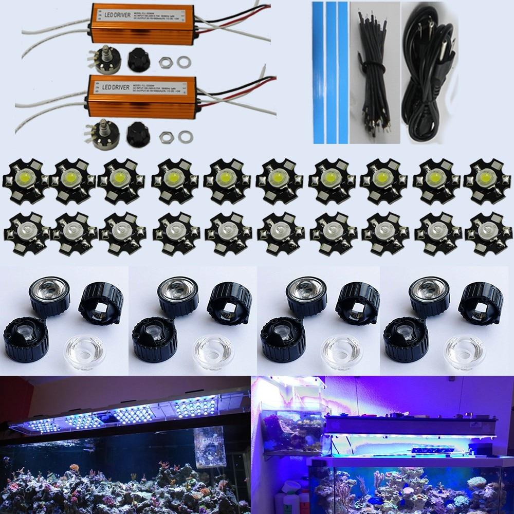 60w Diy Led Aquarium Light Kit 20 3w For C Reef Tank