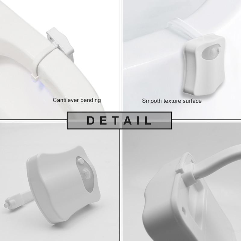 Luzes da Noite banheiro rgb 8 cor nocturna Application 1 : Led Toilet Light