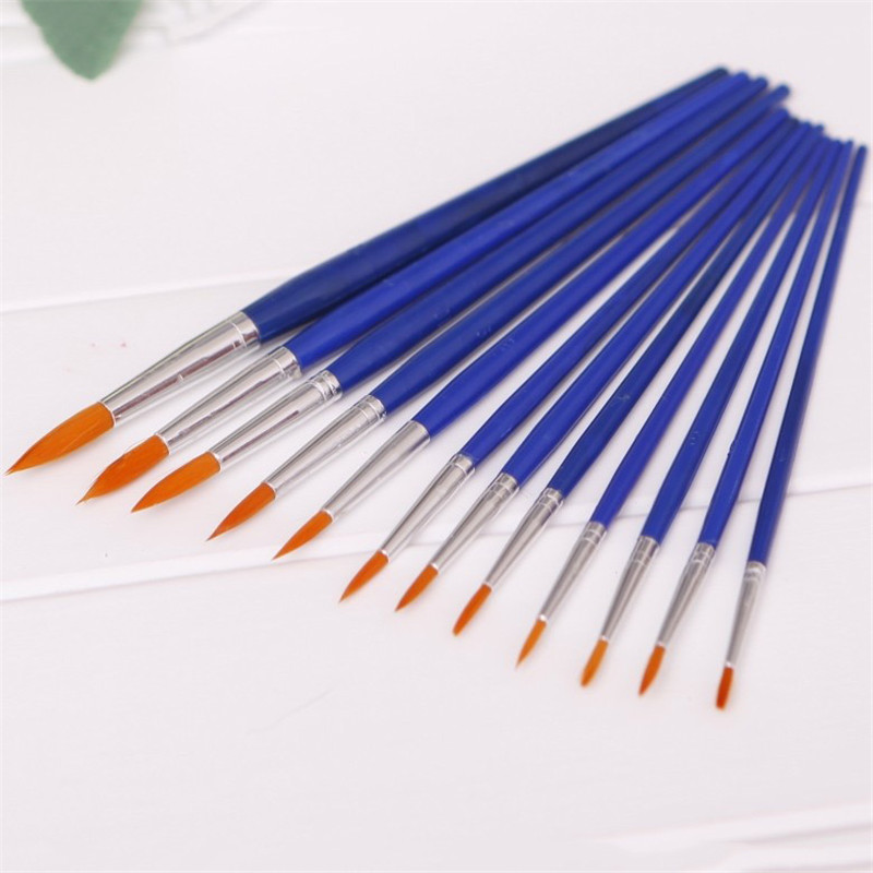 12pcs/pack Different Sizes Nylon Hair Paint Brush Set For Was
