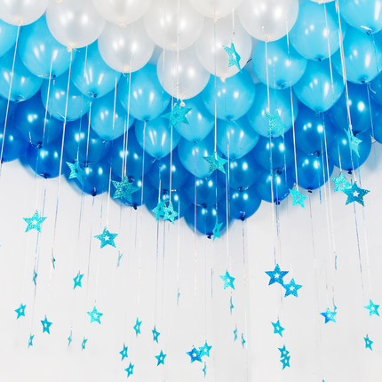 Blue Star Card Love Wedding Marriage Room Balloon