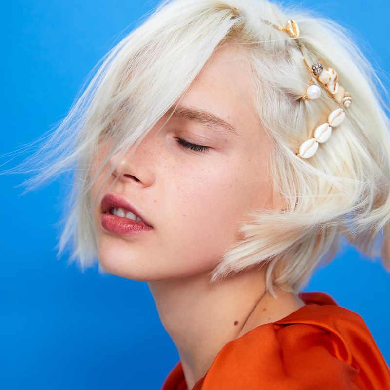 JUJIA Hot Bán Cô Gái Giả Hạt Ngọc Trai Tóc Clip Pins Đơn Giản Kẹp Tóc Thời Trang Phụ Nữ Sang Trọng Ngọt Ngào Hairgrips Phụ Kiện