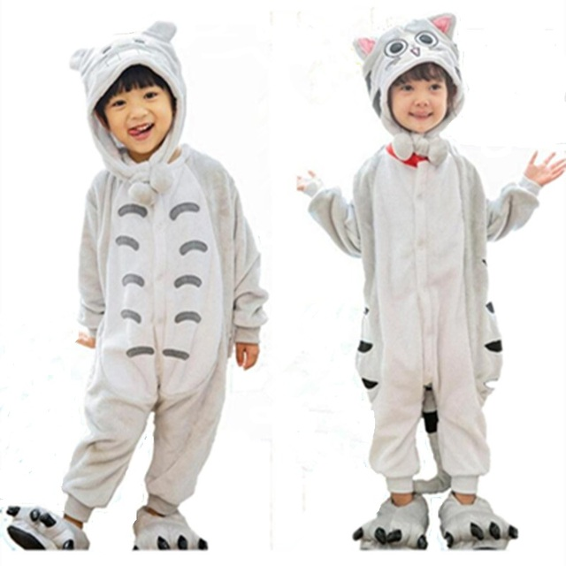 c6c394a83d99 My Neighbor Cat Onesie Pajamas Anime Cheese Cat Kid Cosplay Costumes ...