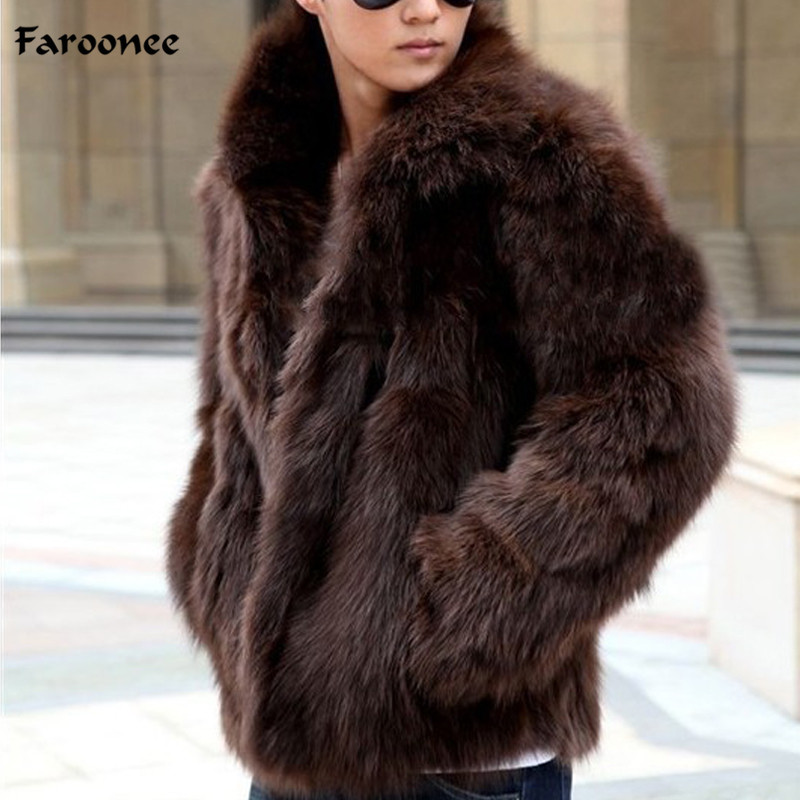 Novel Designs Delightful Colors And Exquisite Workmanship Faroonee Mens Faux Fur Coat Winter Thicken Warm Faux Fur Outwear Coat Overcoat Slim Fashion Casual Jacket Coat Large Size Y1880 Famous For Selected Materials