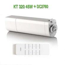 Автоматический электродвигатель для штор Eruiklink Dooya KT320E/45 Вт, электронный мотор + двухканальный излучатель Dooya DC2760, пульт дистанционного управления