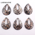 Fashion Unique Lampwork Murano Art Glass Pendants for Necklace Hollow Tear Drop Shape DIY Jewelry Making New Arrival C316