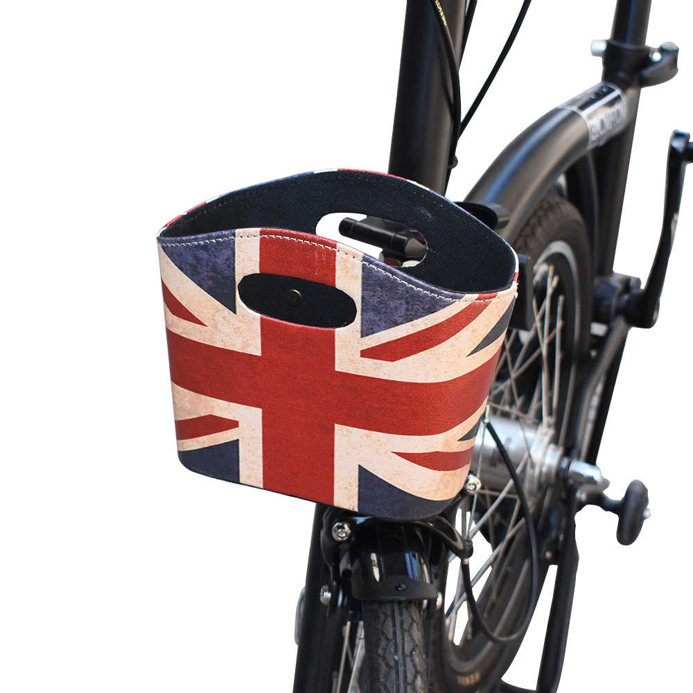 TWTOPSE Bike Bag For Brompton Folding Bicycle Cycling U-basket Bag Union Jack Basket British Flag Accessory Parts 2019