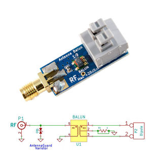 1:9 HF antenna Balun One Nine: Tiny Low-Cost 1:9 Balun frequency band; Long Wire HF Antenna RTL-SDR 160m-6m(China)