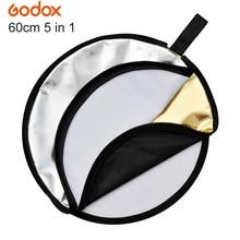 """Оригинальный GODOX 24 """"60 см многодисковый 5 в 1 светильник для фотосъемки складной отражатель для студийной фотосъемки"""