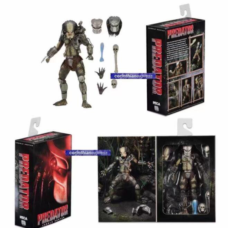 все цены на  Movie AVP Aliens vs Predator Figure Series Alien Covenant Elder Predator Jungle Hunter Action Figure Model Toy Free Shipping  онлайн