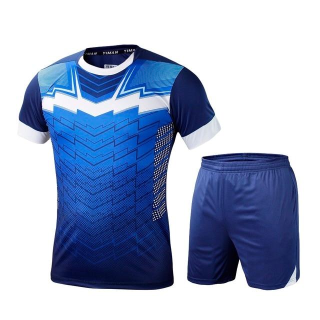2019 hombres niños survetement fútbol kit fútbol soccer jersey deportes  uniformes camisa cortocircuitos maillot de pie e016c34fb523c