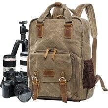 Batik toile numérique SLR Photo sac à dos Durable photographe rembourré sac pour canon/Nikon/Sony DSLR objectif trépied 15 ordinateur portable
