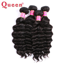 Queen Hair Products Loose Deep Malaysian Remy Human Hair Weave More Wave 1Piece Only 10-28inch