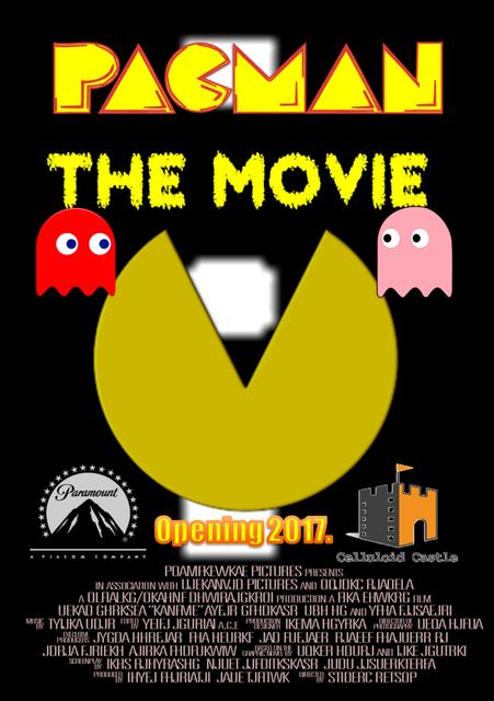 competitive price c68dc 96a05 Pacman le film Vintage jeux vidéo affiche de propagande rétro toile  peinture bricolage Stickers muraux Art