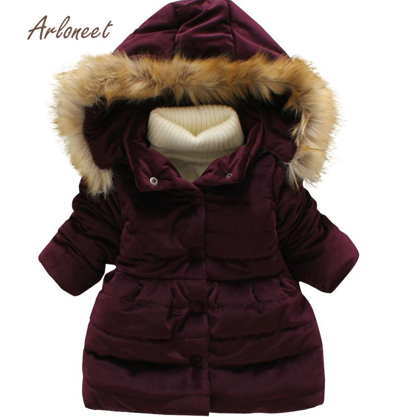 2017 new fashion Baby Toddler Girls Autumn Winter Hooded Coat Cloak Jacket Thick Warm Clothes nov7 2017 winter women jacket down new fashion long sleeve hooded thick warm short coat slim big yards female autumn parkas ladies242