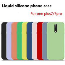 2019 Original Official Silicone Case For one plus 7 cover liquid back for 7plus case pro capa