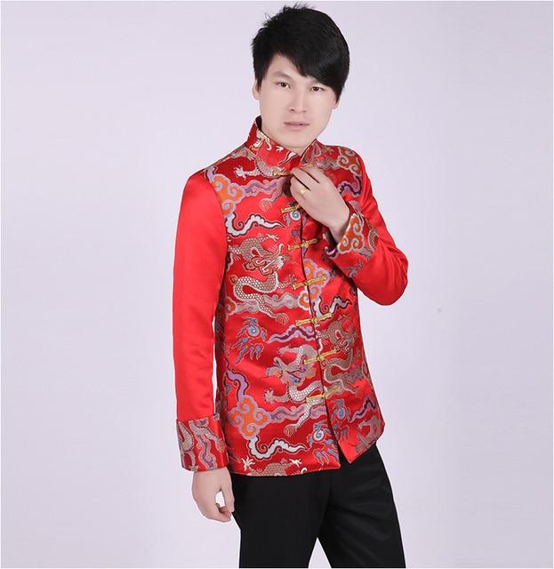 Ropa de La Boda el Novio de hombre Tradicional Qipao Chino Antiguo Traje  Hanfu juego de 87c5be03d39d