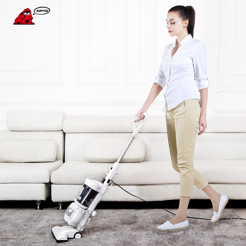 PUPPYOO Low Noise Home Rod Vacuum Cleaner Handheld Large Dust Capacity Collector Household Powerful Suction Aspirator WP3007