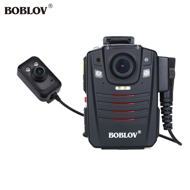 """BOBLOV HD66-07 HD 1296P Body Police Video Camera 32GB 2.0"""" LCD 170 degree Angle Video Recorder with External Infrared Lens"""