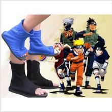 00 Top Naruto Konoha Ninja Village Negro Azul Zapatos Sandalias Botas Trajes de Cosplay Regalo