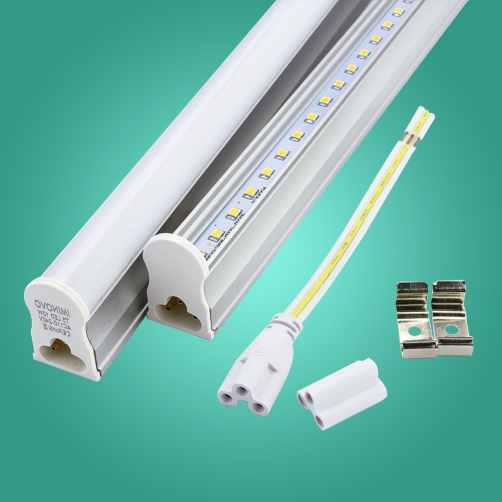 IMINOVO 6 Pcs T5 Integrated Tube LED Light AC110V 220V 600MM 300MM 6W 10W Milky Cover Cool/Warm Lamp Kitchen/Cabinet With Switch 4 pack free shipping t5 integrated led tube lights 5ft 150cm 24w lamp fixture with accessory milky clear cover 85 277v