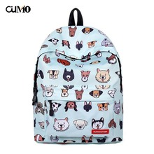 Ou Mo brand Pet dog Print Mini Bag middle School student Schoolbag laptop anti theft backpack feminina Women man