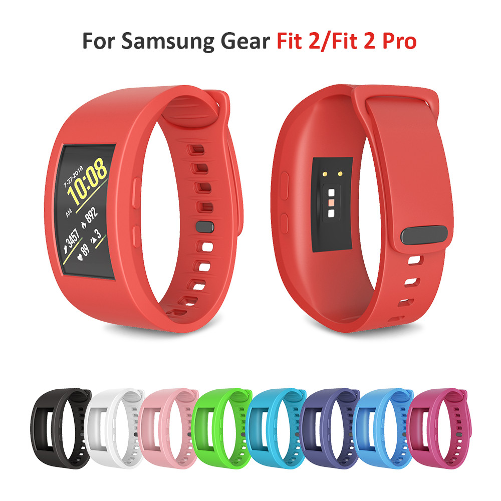 Large/Small Size Silicone Strap for Samsung Gear Fit 2 Pro Replacement Watch Wrist Bands for Samsung Gear Fit 2 R360 Watch band картаев павел samsung gear fit 2 apple снизит цены заряд смартфона влияет на щедрость