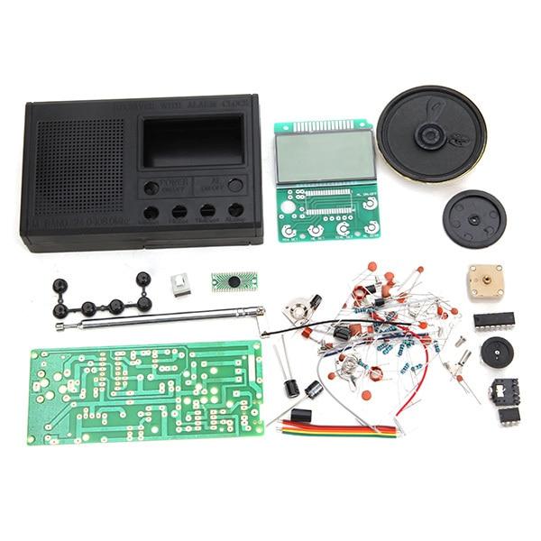 新しい到着diy fmラジオキット電子学習組み立てるスイート部品用初心者研究学校指導放送ラジオセット