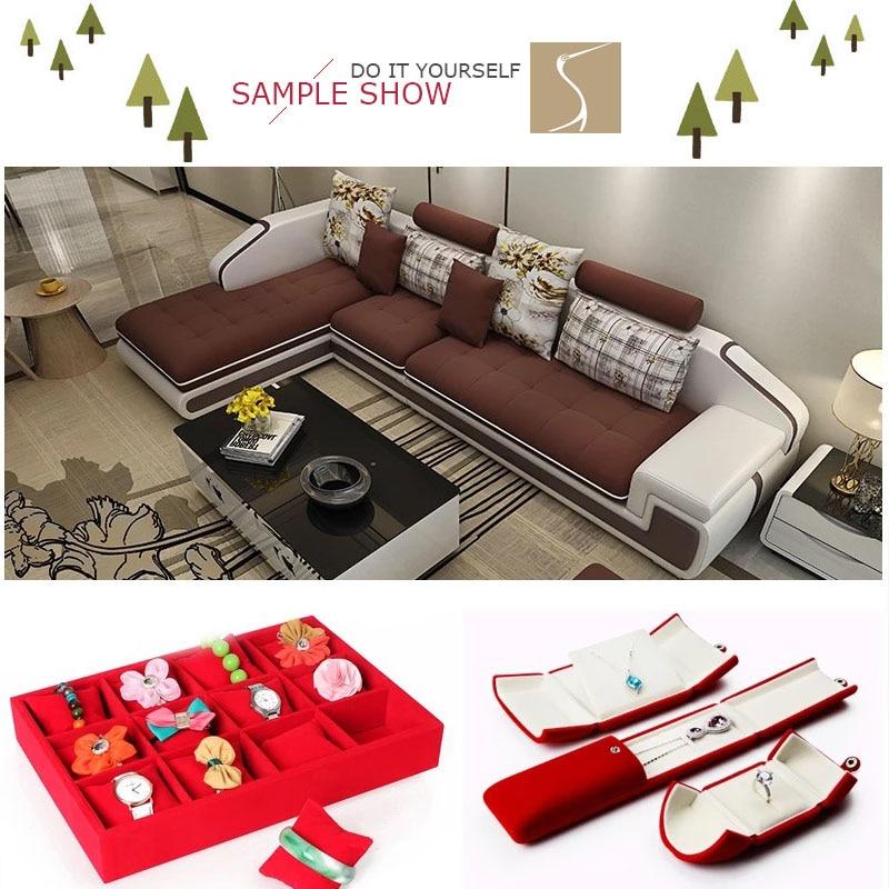 150cm Wide Self Adhesive Velvet Jewelry Box Velvet Lining Furniture