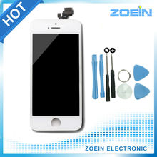 Venta caliente alta calidad AAA reemplazo de la pantalla LCD para el iPhone 5 5S pantalla con LCD pantalla táctil digitalizador de montaje negro blanco